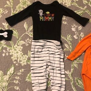 I love my mummy Halloween baby outfit